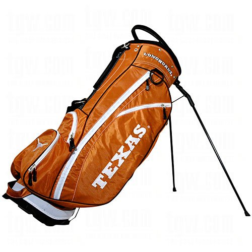 Team Golf NCAA Texas Longhorns Fairway Golf Stand Bag, Lightweight, 14-way Top, Spring Action Stand, Insulated Cooler Pocket, Padded Strap, Umbrella Holder & Removable Rain - University Collegiate Bag Stand