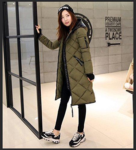 Lingswallow Womens Faux Fur Hood Packable Long Down Jacket Coat Praka
