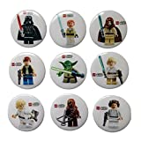 Lego Movie Buttons Badges 9 Pcs Set #4