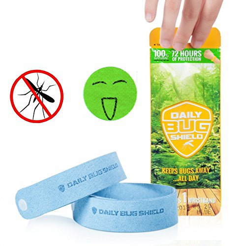 Mosquito Repellent Bracelets 6 Pack + 6 Bonus Bug Repellent Patches (6 pcak)