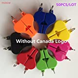 50PCS/Lot FOX 40 Referee Whistle Basketball Volleyball Football Tennis Dolphin Coach Whistle Without ''Canada'' Logo Classic Apito ( Green )