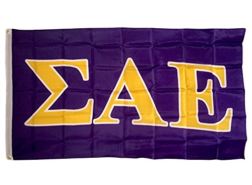 Fraternity Flag - Sigma Alpha Epsilon Letter Fraternity Flag Greek Letter Use as a Banner 3 x 5 Feet Sign Decor SAE