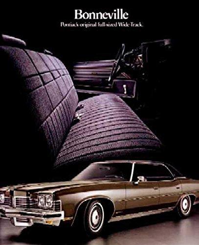 Sales Brochure Bonneville Pontiac (1973 Pontiac Bonneville Sales Brochure Literature Book Piece Advertisement Color)