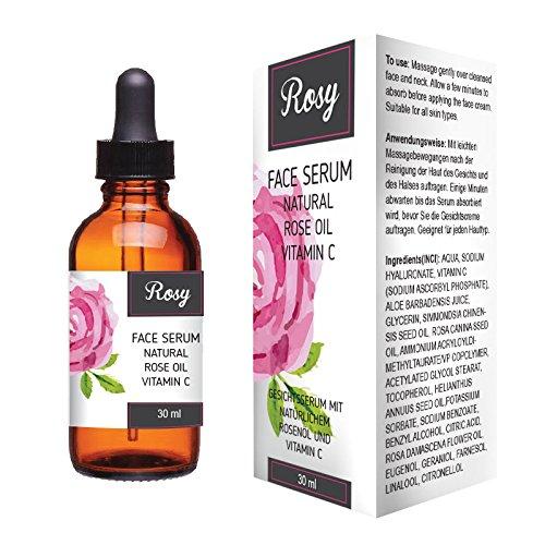 rosy viso siero olio rosa naturale vitamina C Aurimetry LTD