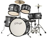 Stagg TIM JR 5/16 BK 5-Piece 16-Inch Junior Drum Set with Hardware - Black