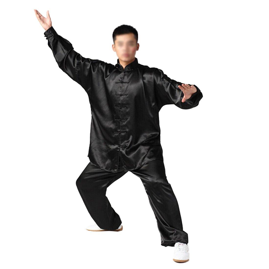 Andux Chinese Traditional Tai Chi Fu Uniforms B00QJLZ5S6 Kung Fu Clothingユニセックスss-tjf01ブラック Chinese xx-large B00QJLZ5S6, 防府市:1d7d4d60 --- capela.dominiotemporario.com