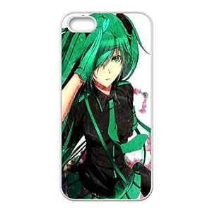Love Is War Art Lily Vocaloid Hatsune Miku 97092 funda iPhone 5 5s caja funda del teléfono celular del teléfono celular blanco cubierta de la caja funda EEECBCAAJ15071