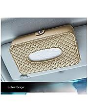 Car Hanging up Sun Visor Tissue Box,PU Leather Napkin Holder
