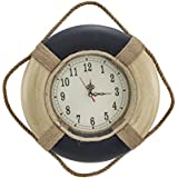 Black and White Life Ring Wall Clock 14 In.