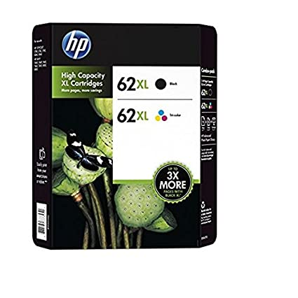HP 62XL High Yield Black/Tri-color Original Ink Cartridge Content Value Pack cartucho