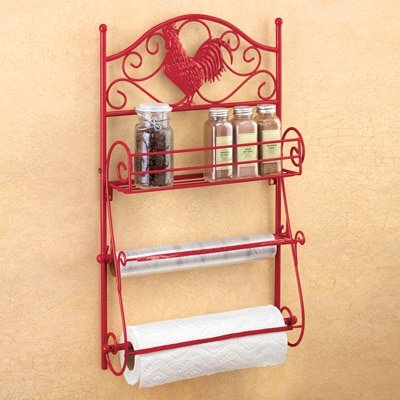 Red Rooster Country Kitchen Storage Collection (Wall Hanger)