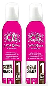Cocoa Brown 1 Hour Tan Mousse TWIN PACK by Cocoa Brown