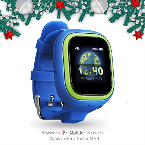 NEW TickTalk 2 Touch Screen Kids Smart Watch, GPS Phone watch, Anti Lost GPS tracker with New App, Better Positioning Chip, Things To Do Reminder, Phone/Messaging (SIM CARD INCLUDED) - Blue