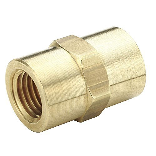 Parker 207P-8-pk20 Pipe Fitting, Female Pipe to Female Pipe, Female Pipe Coupling, 1/2'', Brass (Pack of 20)