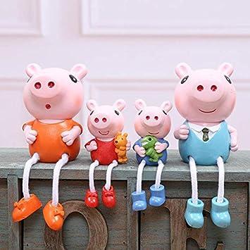 Marnis - 4 Figuras de Peppa Pig, George con dinosaurio y ...