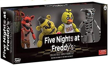 Cinque NOTTI AL FREDDY/'S Action Figure Giocattolo Modellino 6 VER FREDDY CHICA Bonnie Foxy