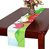 QYUESHANG Photo Number Door Frame Table Runner, Kitchen Dining Table Runner 16 X 72 Inch For Dinner Parties, Events, Decor