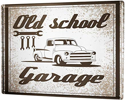 Froy Postergarage Old School Garage Cartel de Chapa de Pared ...