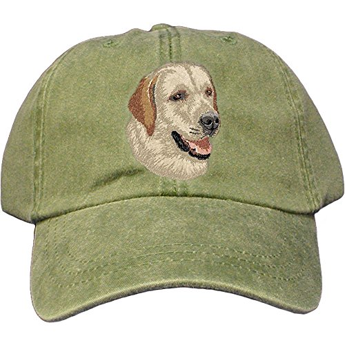 Cherrybrook Dog Breed Embroidered Adams Cotton Twill Caps - Spruce - Labrador Retriever