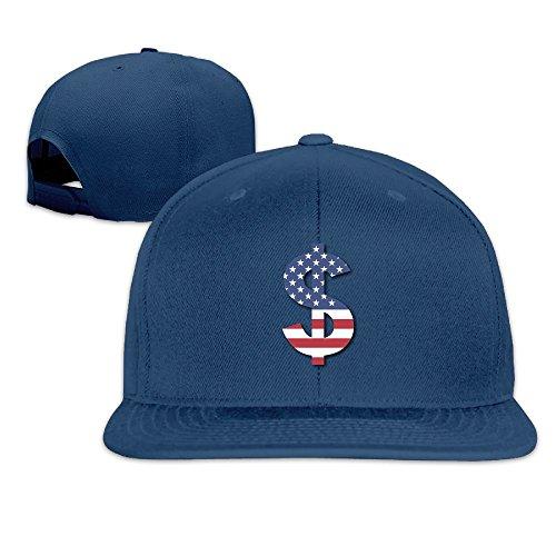 Kij9021jhhn Unisex American Money Flag Lovely Low Profile Adjustable Baseball Cap (Youth Mid Profile Camo Cap)