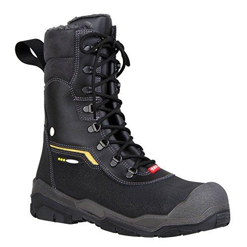 """Ejendals 1808–47taglia 47""""JALAS 1808Ice Track Stivali di sicurezza, colore: nero/grigio/giallo"""
