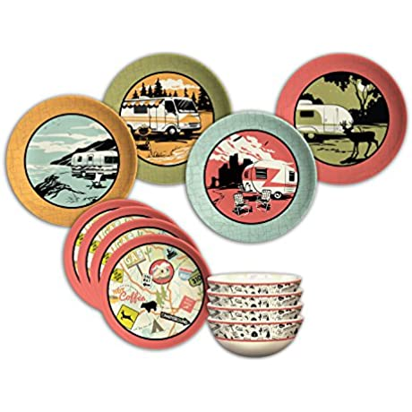 Camp Casual CC 001 12 Piece Dish Set