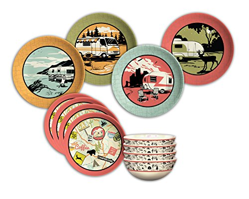 Camp Casual 12-Piece Dish Set made our list of gift ideas rv owners will be crazy about make perfect rv gift ideas