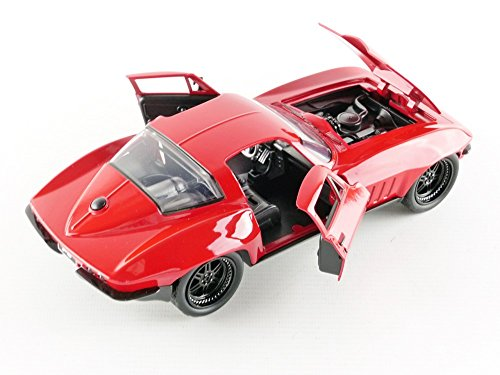 Fast & Furious 1:24 Letty's 1966 Chevy Corvette Die-cast Car, Toys for Kids and Adults 5