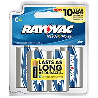 Rayovac 814-8RBPF Alkaline Reclosable C Batteries