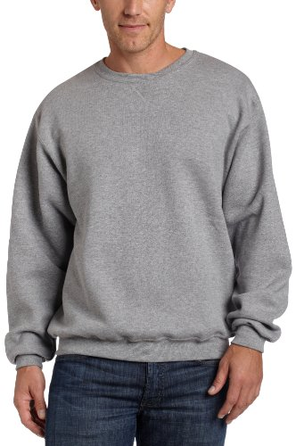 Russell Athletic Men's Dri-Power Crewneck Fleece Sweatshirt,Oxford,Small