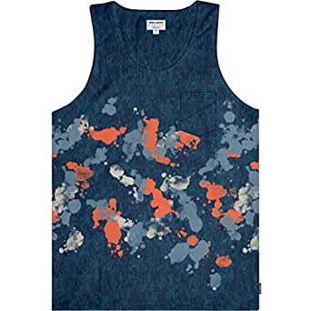 Billabong Mens Mondaze Tank Shirt, Dark Blue, Small