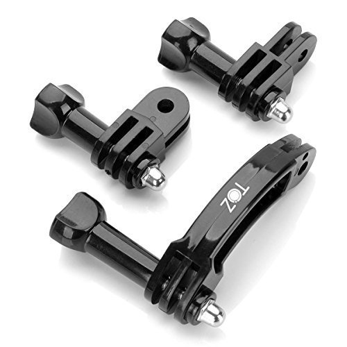 TOZ TZN-S03 Universal Rotary Extension Arm Mount Set for Gopro Hero 4 3 3+ 2 1, GoPro Accessories Kit Extension Arm Adapter Pivot Arm Thumbscrew ()