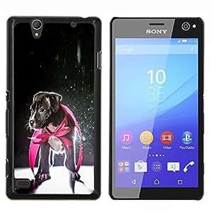 YiPhone /// Prima de resorte delgada de la cubierta del caso de Shell Armor - Perrito Jack Russell héroe del perro del bebé - Sony Xperia C4