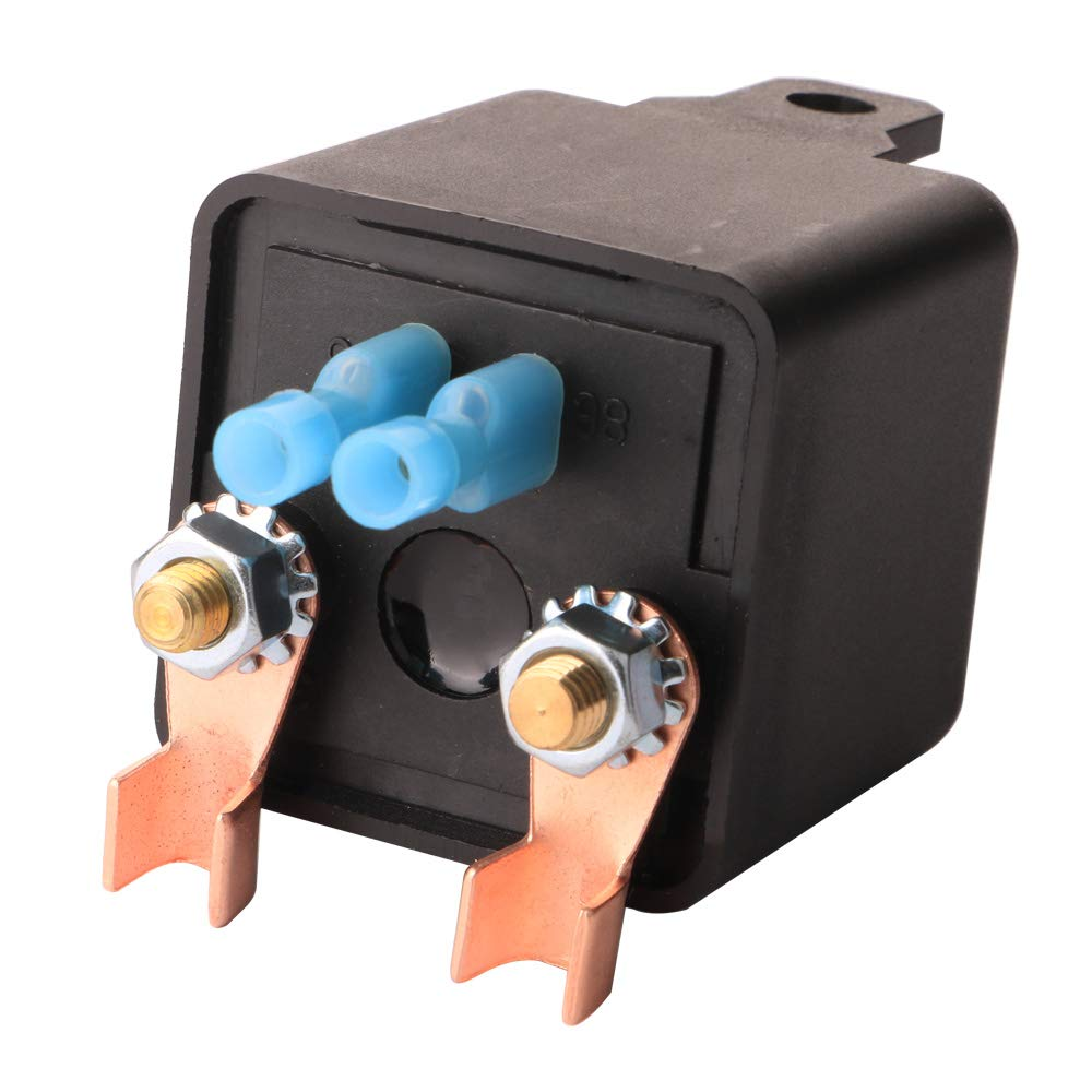 2 Terminal Gebildet Automotive Relays for Car Truck Motor Boat Car Starter 24V DC 100 Amp Split Charge Relay Switch with 2 Pin Footprint