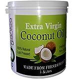 GOrganica Virgin Coconut Oil 1.5L Unrefined Cold Pressed Raw (1.5L)