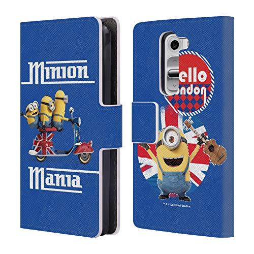 Official Minions Union Jack Scooter Minion British Invasion Leather Book Wallet Case Cover Compatible for LG G2 Mini / D618 Dual SIM (For Cover Jack Union G2 Phone Lg)