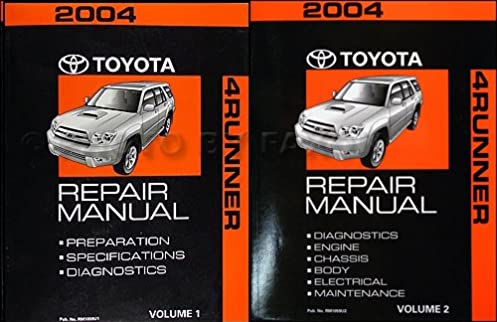 2004 toyota 4runner repair manual original 2 volume set toyota rh amazon com 2004 toyota 4runner repair manual free 1996 4Runner Service Manual