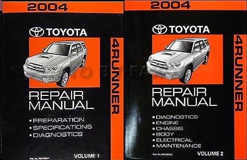 2004 toyota 4runner repair manual original 2 volume set toyota rh amazon com 2004 toyota 4runner service manual pdf 2004 4runner repair manual pdf