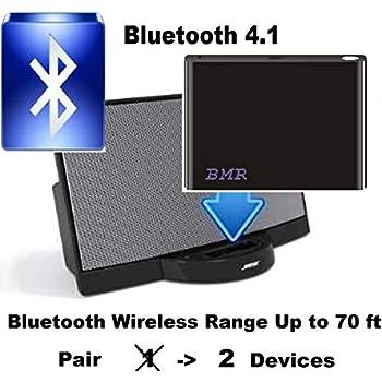 Amazon com: BMR A2DP Bluetooth Music Receiver + Power