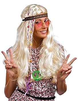 P tit payaso peluca Hippie hombre – Duro con trenza de tela