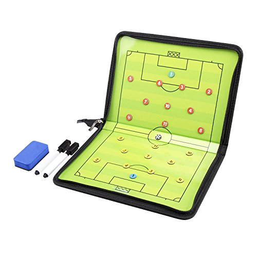Football Soccer Coaching (AGPtEK Football/Soccer Magnetic Coaching Board Winning Strategy Board with Dry Erase Marker)