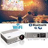 EUG Smart WiFi Home Cinema Projector Android OS, Support HD 1080P 720P HDMI