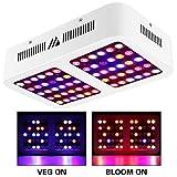 Morsen Reflector 600w LED Plant Grow Lights Full Spectrum with Veg Bloom Switches