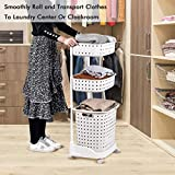 Laundry Basket With Wheel Rolling Laundry Sorter