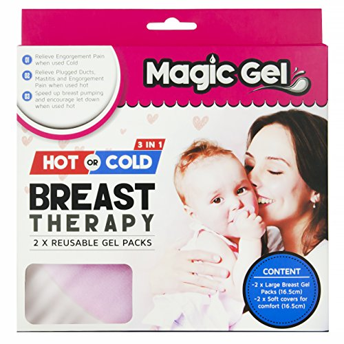Premium Breast Hot & Cold pack by Magic Gel. Use to ease Sore Nipples during Breastfeeding, to open Clogged Ducts and reduce Mastitis pain.