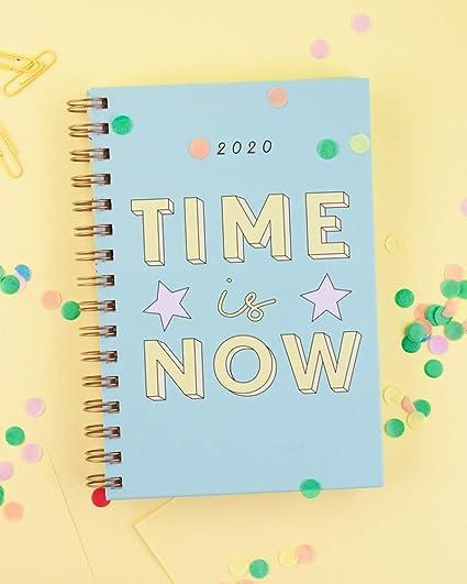 Casterli - Agenda Anual 2020 - Día página, tamaño A5 (Time is now)