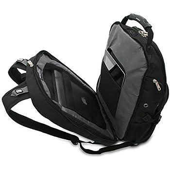 "Swiss Gear Swissgear 17"" inch Laptop Notebook Mac Book iPad Outdoor ScanSmart Backpack - Premium High Quality - Black"
