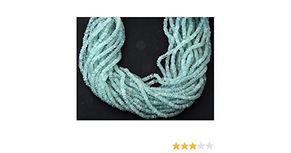 13 3.25 mm Natural Aquamarine Rondelle Beads 4BGI59 Aquamarine Faceted Beads