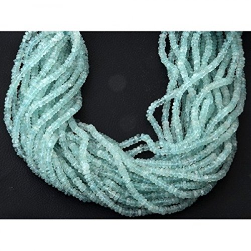 aquamarine Faceted Rondelle Beads 3-4mm by BESTINBEADS I aquamarine Beads 3-4mm I aquamarine Bead Strands I aquamarine Faceted Rondelle Gemstone Bead Strands I aquamarine Rondelle Beads