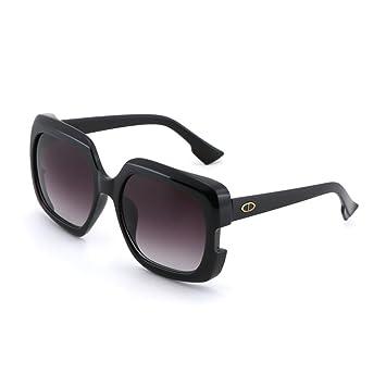 Sunny HONEY Lunettes de soleil femme - Gradient, grand cadre, design simple, protection UV (Couleur : Blanc)